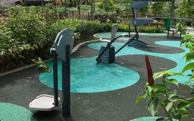 Salle de musculation en plein air à Singapour