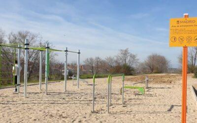 Instalación de 22 parques de calistenia en Madrid