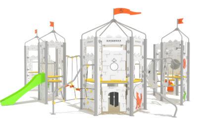 Nouveaux châteaux pour enfants pour les parcs publics.