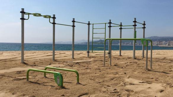 Calisthenics park at Palamós beach