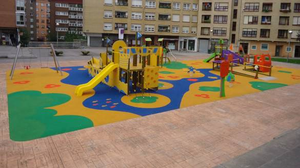Installation of an inclusive playground