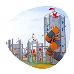Juegos temáticos para parques infantiles