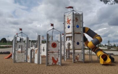 Children's playground and calisthenics in Cáceres