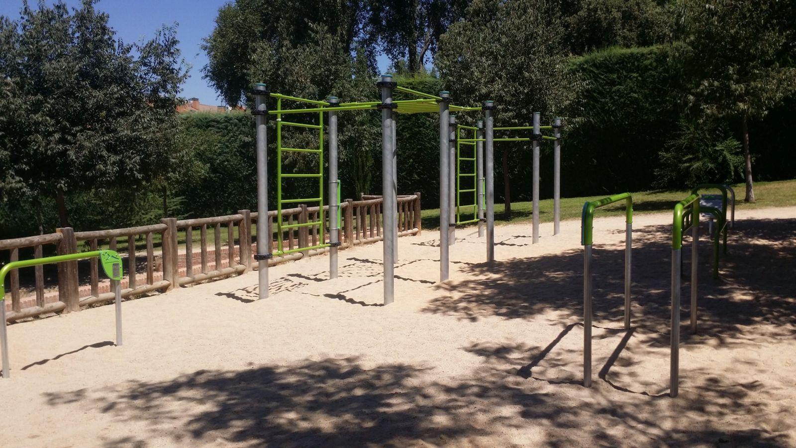 estructura calistenia barras paralelas mostoles avenida sauces
