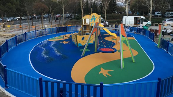 Installation of turnkey playgrounds