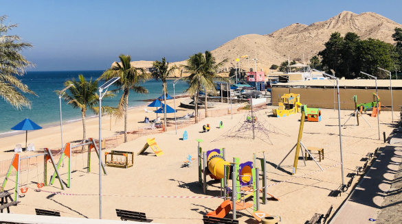 Children's playground installed in Qurm, Oman