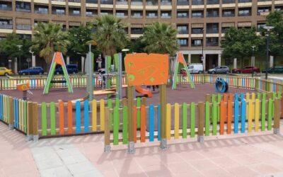 Zaragoza instala 6 nuevos parques infantiles