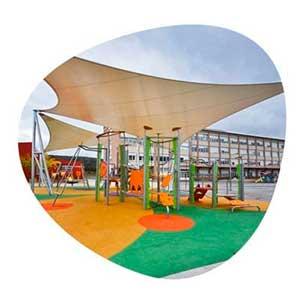 Sombras textiles para parques